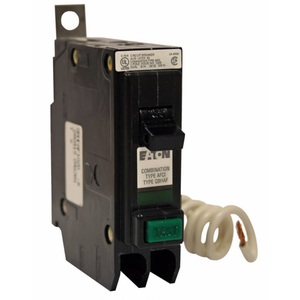 Eaton QBHCAF1020 Breaker Bolt On, 20A, 1P, 120/240V, Type QBHAF, 22 kAIC, Arc Fault