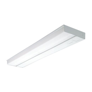 "Metalux UC24T8117 Fluorescent Undercabinet Light, T8, 24"", 17W, 120V, White"