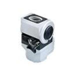Hoffman CCS2ESTLG Swivel Tilt, 90° Elbow, 45 x 60 mm, Aluminum/Gray