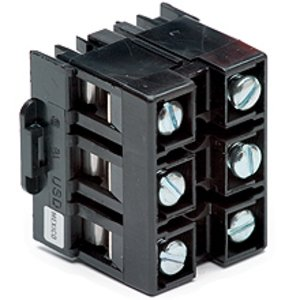 Eaton/Bussmann Series NDN111-WH-UL Terminal Block, 100kA High Short Circuit Rated, 90A, 3P, 600V AC/DC
