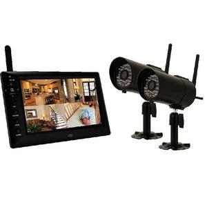 "BRK-First Alert DWS-472 DVR, 4 Channel, MPEG-4 Digital Wireless, 7"" LCD Screen 2 Cameras"
