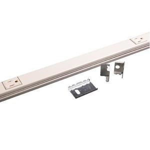 "Wiremold V20GB512 Plugmold Outlet Strip, Steel, Ivory, 5 Outlets, 12"" Centers, 5' Long"