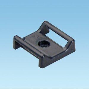 """Panduit ABMT-S6-C60 Cable Tie Mount, 1.12"""", Screw Applied, Nylon, Black"""