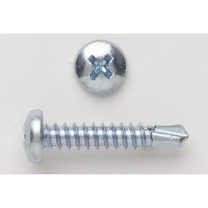 Bizline R1012PHPT Self-Drill Screw, Pan Head, Phillips, 10 x 1/2""