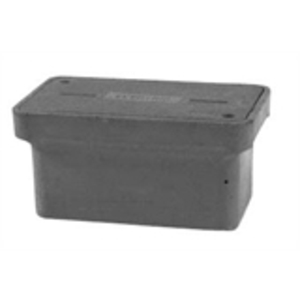 "Hubbell-Quazite PG1324BA12 Stackable Box, 13"" x 24"" x 12"", Open Base, Polymer Concrete"