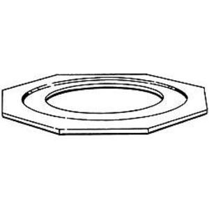 """Hubbell-Raco 1366 Reducing Washer, 1"""" x 1/2"""", Steel"""