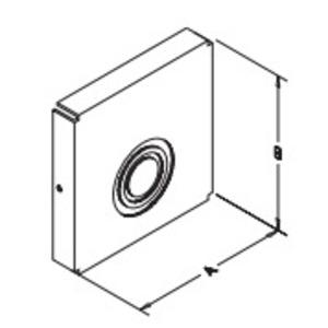 "Hubbell-Wiegmann E0404NK Wireway Closure Plate, 4"" x 4"", Type 1, Gray, No KOs"