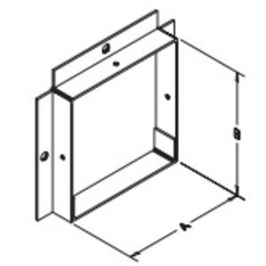 "Hubbell-Wiegmann PA0606 Wireway Panel Adapter, Type 1, Lay-In, 6"" x 6"", Steel, Gray"