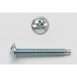 Bizline R62TMS Truss Head Machine Screw, Slotted, 6-32 x 2""