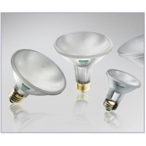 SYLVANIA 39PAR30/HAL/WFL50-120V Halogen Lamp, PAR30, 39W, 120V, WFL50