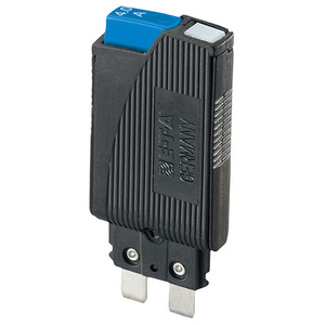 E-T-A Circuit Breakers 1180-01-10A-CTN-BLUE Breaker, 10A, 1P, 250VAC, 65VDC, Plug-In, w/Switching
