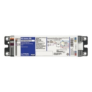 Lutron H3DT550GU210 Ballast, Compact Fluorescent, Dimming, 50W, 120-277V