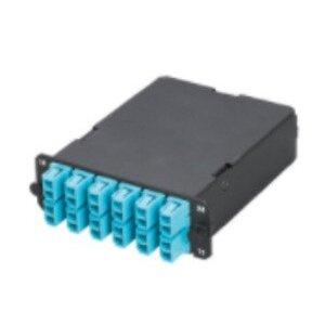Panduit FCX-24-10Y Fiber Cassette, 10Gig 50/125µm, 12 LC Adapters - 12-Fiber Connector