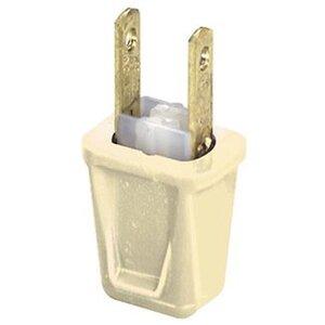 Leviton 123-I 10 Amp Plug, 125 Volt, 1-15P, Ivory Non-Polarized