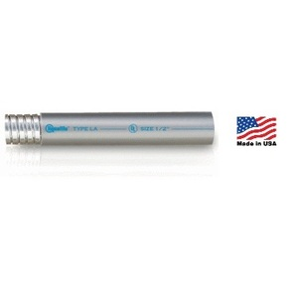 "Electri-Flex 25104 Liquidtight Flexible Steel Conduit, Type LA, 1-1/2"", Gray, 150'"