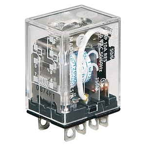 Allen-Bradley 700-HF32A1-4 Relay, Square Base, Ice Cube, 8-Blade, 2PDT, 10A, 120VAC