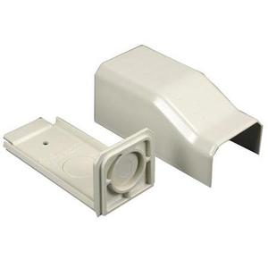 Wiremold NM2010A Blank End Fitting, Plugmold 2000 Series, Non-Metallic, Ivory