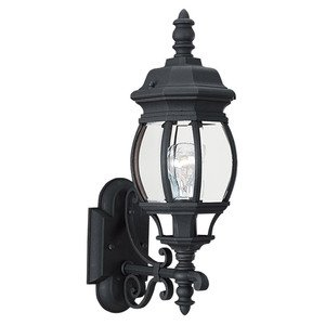 Sea Gull 88200-12 Wall Lantern, Outdoor, 1-Light, 100W, Black