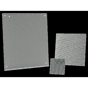 "Hoffman A20P16PP Perforated Panel For NEMA 3R Medium Enclosure, Size: 20 x 16"", Steel"