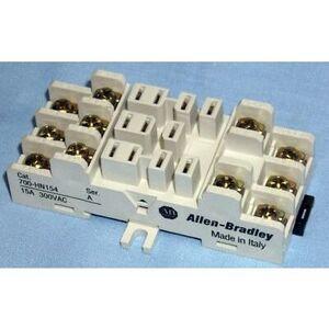 Allen-Bradley 700-HN154 Socket, 11-Blade, Open Screw Terminal, Panel or DIN Rail Mount