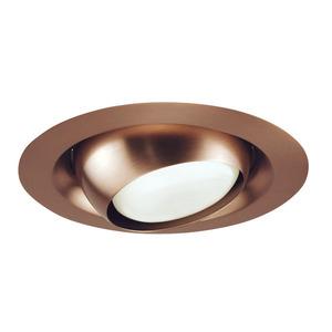 "Juno Lighting 229-ABZ Adjustable Eyeball Trim, 6"", PAR30L/BR30, Classic Aged Bronze"