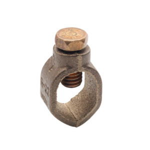 """Bridgeport Fittings GRC-63 Ground Rod Clamp, Bronze, 5/8"""" Rod, 10 to 2 AWG"""