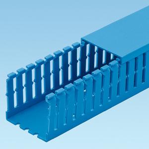 "Panduit F4X4IB6 Wiring Duct,  Narrow Slot, 4"" x 4"" x 6', PVC, Blue"
