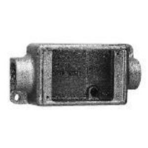 """Cooper Crouse-Hinds FDC2 FD Device Box, 1-Gang, Feed-Thru, Type FD, 3/4"""", Malleable Iron"""
