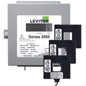 Leviton 2K208-2W Sub-Meter Kit, with CT's, 120/208VAC, 3P4W, 200A, NEMA 1, Surface