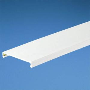 "Panduit C2.5WH6 PANDUCT Wiring Duct Cover, 2-1/2"" x 6', PVC, White"