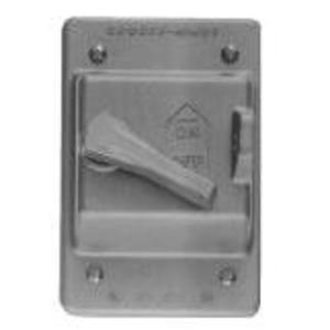 Cooper Crouse-Hinds DS185 Switch Cover, 1-Gang, Aluminum
