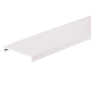 "Panduit C2WH6 PANDUCT Wiring Duct Cover, 2"" x 6', PVC, White"
