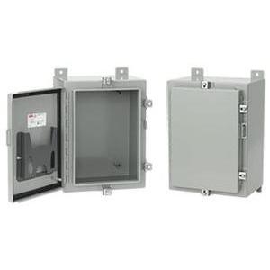 "Hoffman A48H36FLP Enclosure, NEMA 4, Continuous Hinge With Clamps, 48 x 36 x 16"""