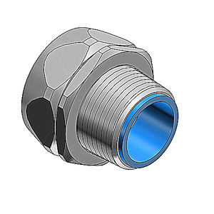 "Thomas & Betts 5332SST Liquidtight Connector, Straight, 1/2"", Insulated, Stainless Steel"