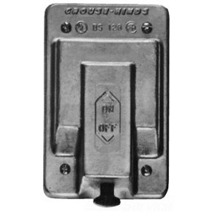 Cooper Crouse-Hinds DS128 Snap Switch Cover, 1-Gang, Aluminum