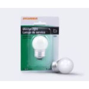 SYLVANIA 7.5S/CW/BL-120V 7.5W, Incandescent, S11, White Finish, Medium Base, 120V