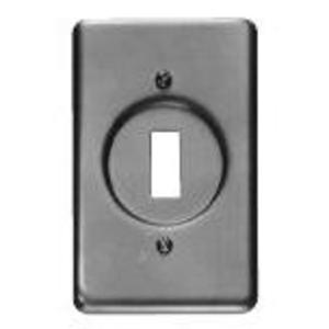 Cooper Crouse-Hinds DS32 Toggle Cover, 1-Gang, Aluminum, Fits FS and FD Boxes