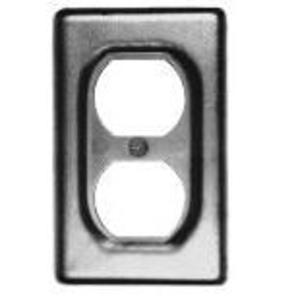 Cooper Crouse-Hinds DS23 Duplex Receptacle Cover, 1-Gang, Steel