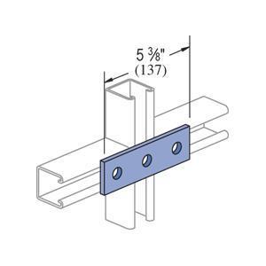Unistrut P1066-EG Fitting, Flat, 3 Hole, 5 3/8 in,eg