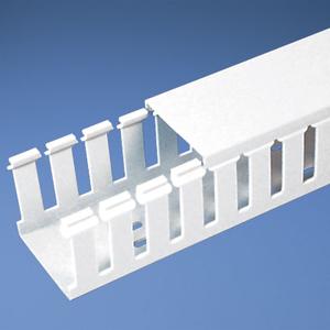 "Panduit G2X1WH6 Wiring Duct, Wide Slot, 2"" x 1"" x 6', PVC, White"