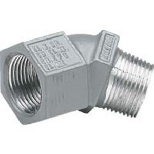 "Hubbell-Killark MF-45-1-EX 45° 1/2"" Aluminum Elbow, Male/Female, Quad Listed"