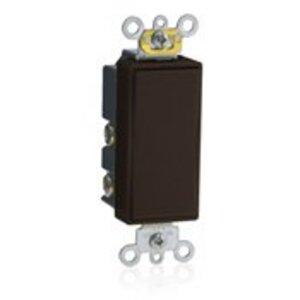 Leviton 5657-2 Decora Switch, 15A, 120/277V, Momentary, 1-Pole, Double Throw, Mahogany