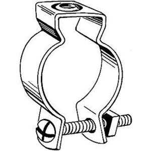 "Hubbell-Raco 2055 Conduit Hanger with Bolt, Diameter: 1-1/4 to 1-1/2"", Steel"