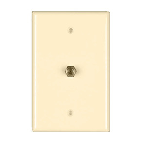Leviton 80781-T Wall Plate, Coax/F Connector, 1-Gang, Light Almond