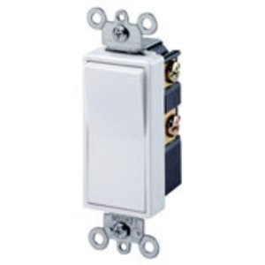 Leviton 5614-2W 4-Way Illuminated Decora Rocker Switch, 15A, 120/277V, White