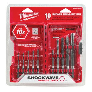 Milwaukee 48-89-4445 10-Piece Shockwave Hex Bit Set