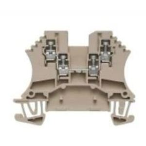 Weidmuller 1031400000 Terminal Block, Feed Through, Dark Beige, 1.5mm, W-Series, 4 Point