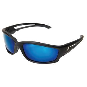 Wolf Peak TSKAP218 Kazbek Protective Eyewear, Polarized, Black Frame/Blue Mirror Lens