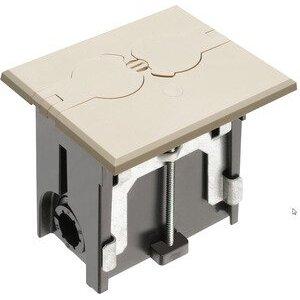 Arlington FLBAF101LA Floor Box Assembly, Includes Duplex Receptacle, Almond Floor Plate