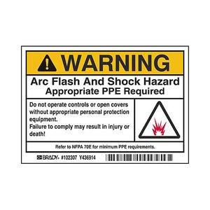 Brady 102307 B302 3.5x5 Blk/org/w 100/rl Flash&shock